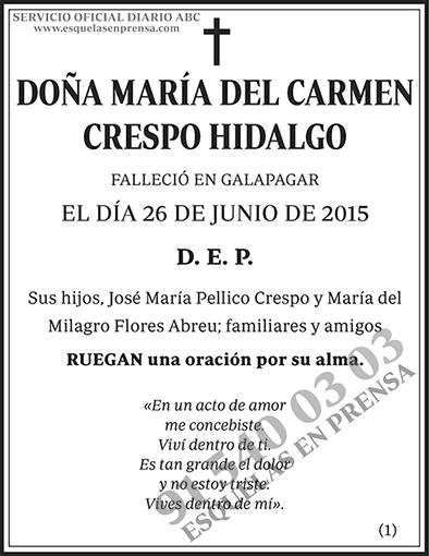 María del Carmen Crespo Hidalgo